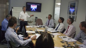 Michael Dodd Presenting to Group