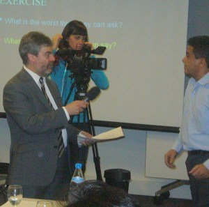 Michael Dodd interviewing